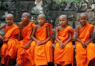 Cambodja, little monks
