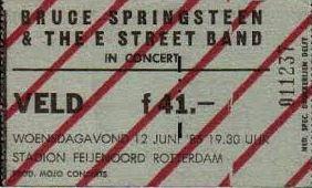 kaartje Springsteen - de kuip 1985