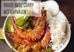recepten HC -Thaise rode curry met garnalen